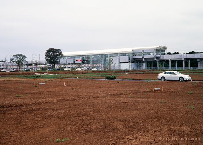 つくばエクスプレス開業直後の研究学園駅