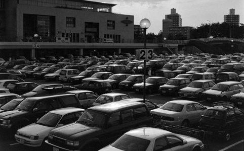 つくばセンター付近駐車場1997年